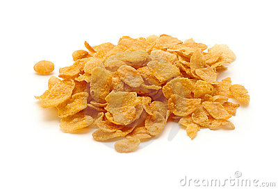 Cornflakes isolated