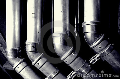 Interior building pipes
