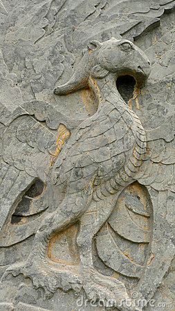 Stone pheonix at songling