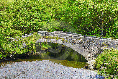 Old rural stone bridge