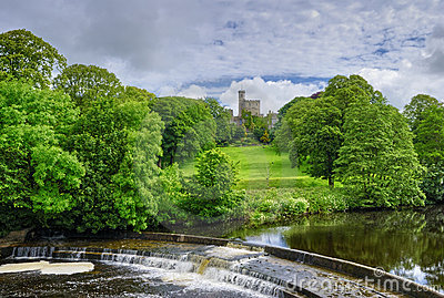 Hornby castle and river