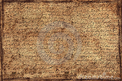 Background from letter
