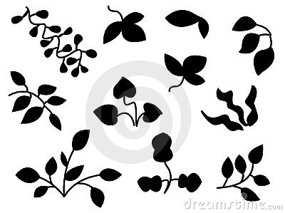 Vector Nature Silhouettes Icons