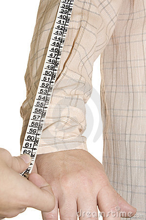 Tailored shirt measure forearm