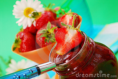 Home made strawberry confiture