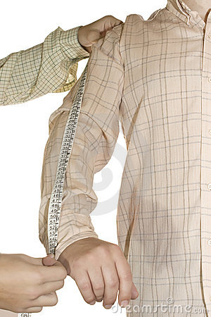 Tailored shirtmeasure arm