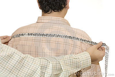 Tailored shirt measure shoulders