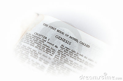 Bible open to genesis vignette