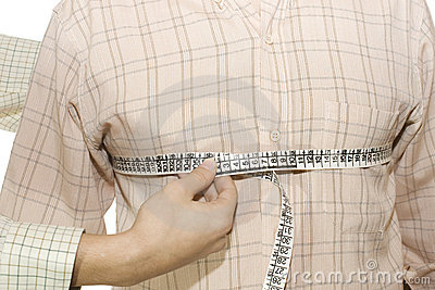 Tailored shirt measure of breast