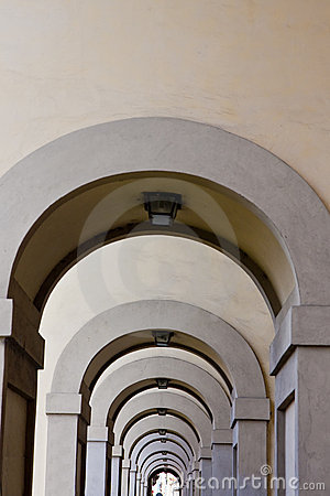 Arches Into Disance