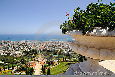 The Bahai Temple Gardens in Haifa