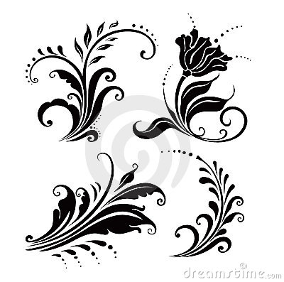 Floral elements (vector)