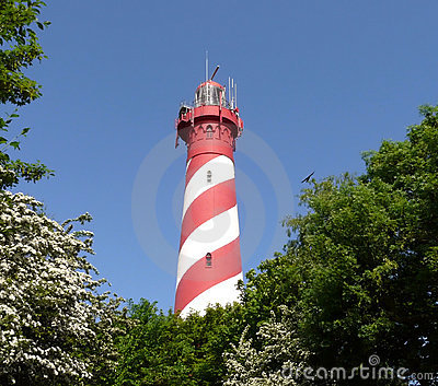 Striped lighthouse