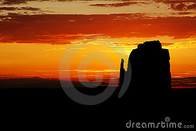 Monument Valley Sunrise - East Mitten Butte