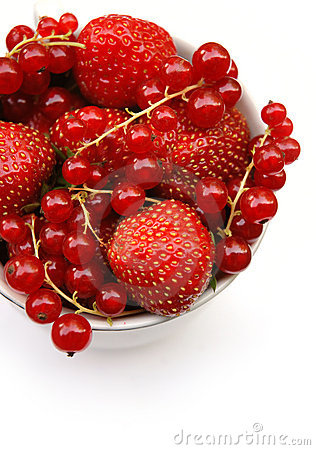 Strawberries and currants