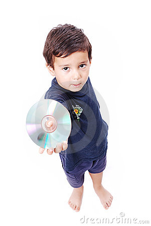 Boy with cd