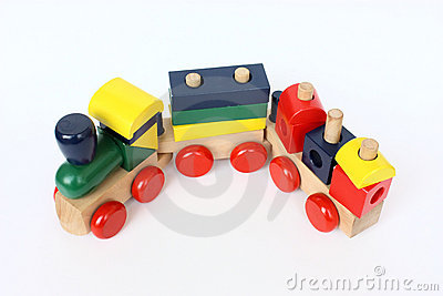 Wooden colorful train