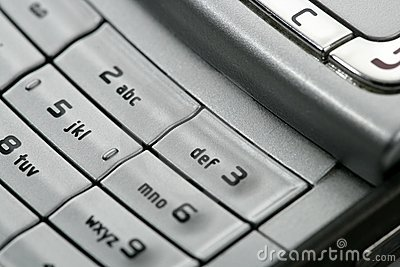 Mobile phone macro keyboard detail