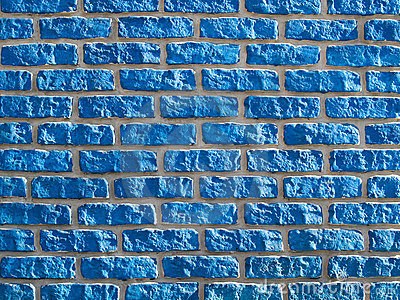 Blue brickwall background.