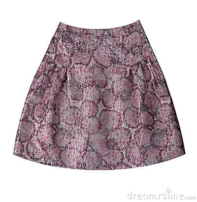 Grey flower silk skirt