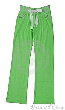Green sport trousers pants