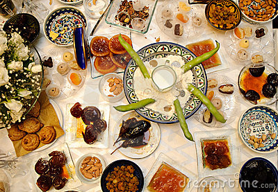 Traditional Jewish moroccan feast called