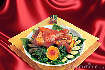 Chinese Cuisine,Braised elbows.