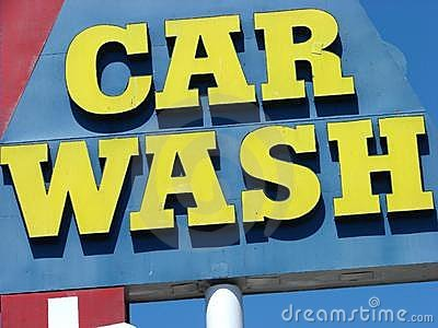 Colorful car wash sign