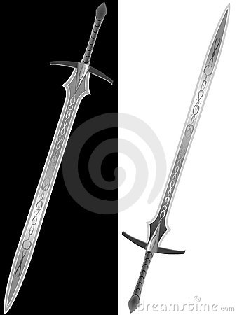 Steel sword of the knight