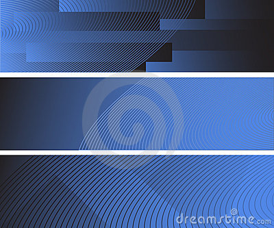 Three abstract banners