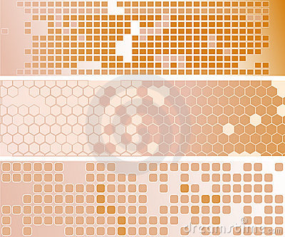 Three abstract creamy banners