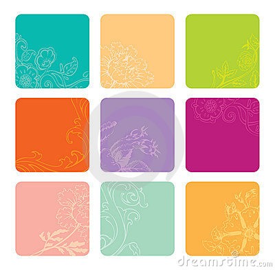 Vector set of color banners