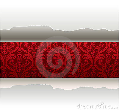 Vector paper with a red background