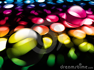 Abstract background with glass balls
