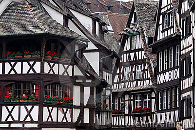 Black and white half-timbered houses