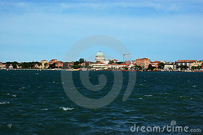 View of Lido from San Servolo, Venice