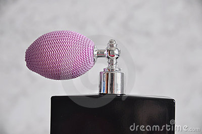 Spray on perfume bottle