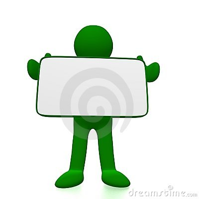Men holding presentation board