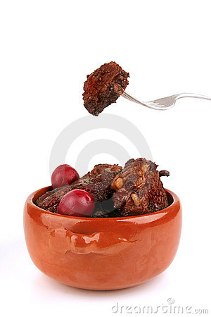 Meat in pot