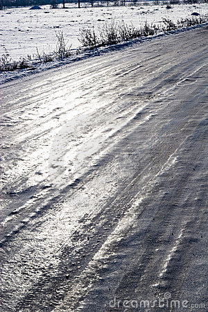 Icy conditions of roads