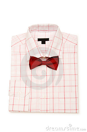 Shirt and tie isolated