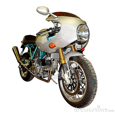 Teal and Silver Motorbike