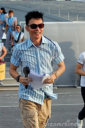 Event host Mark Lee at NDP 2009 rehearsal