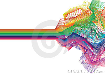 Vector colorful stripe background - vector
