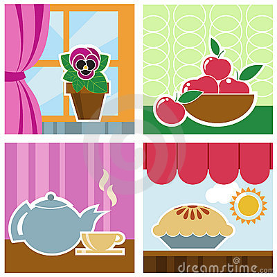 Home interior graphics vector