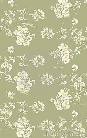 Grungy floral pattern