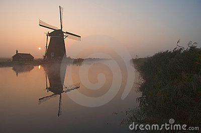 A dutch windmill