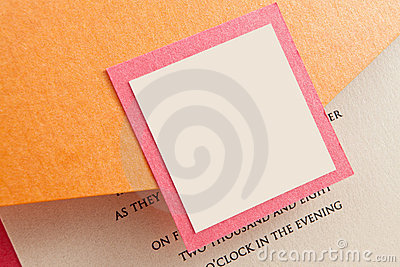 Wedding Invitation Envelope With Blank Label