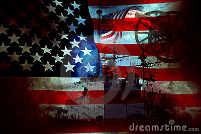 USA Patriot Flag and War