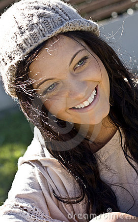 Pretty, smiling teenage girl